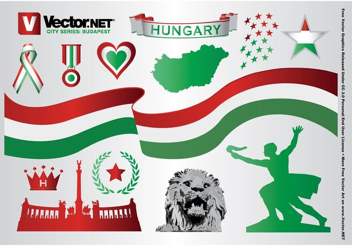 vacation urban travel town tourism statue monument map lion landmark Hungary holiday Gellert hill flag famous Europe city Chain bridge capital building Budapest
