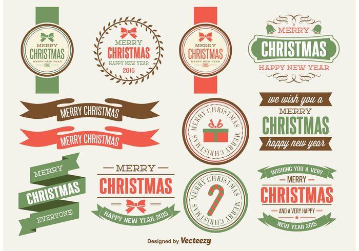 xmas labels Xmas elements xmas banners xmas badges typography Retro Banners retro badges retro navidad merry christmas holidays holiday elements december 25 christmas labels christmas banners christmas badges christmas