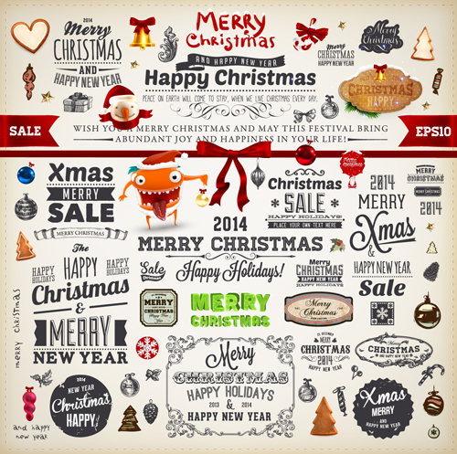 new year new label decor christmas