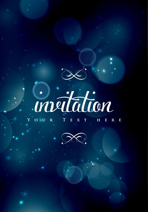 Colored halation invitations background vector 01 WeLoveSoLo