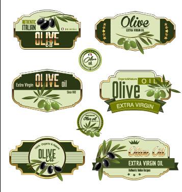 olive oil olive labels green