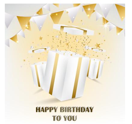 happy birthday gift card card vector birthday