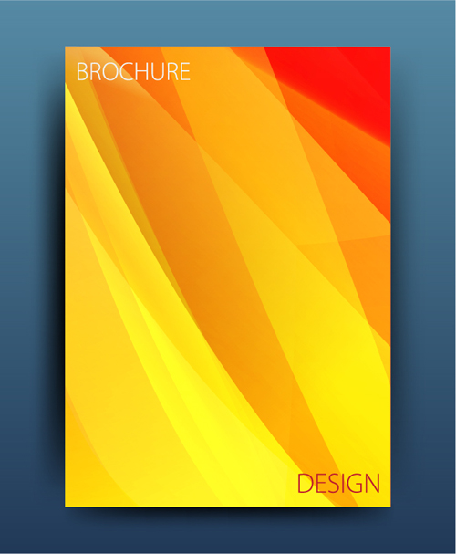 cover colored brochure abstract