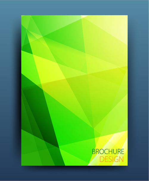 magazine colored brochure abstract