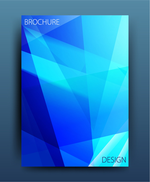 magazine cover brochure abstract