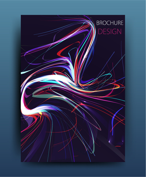 magazine cover colored brochure abstract
