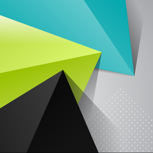 triangle embossment colored background vector background
