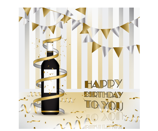Wine with happy birthday card vector welovesolo wine with happy birthday card vector bookmarktalkfo Image collections