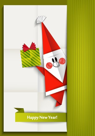 2014 christmas and new year origami greeting card vector 02 welovesolo 2014 christmas and new year origami greeting card vector 02 m4hsunfo