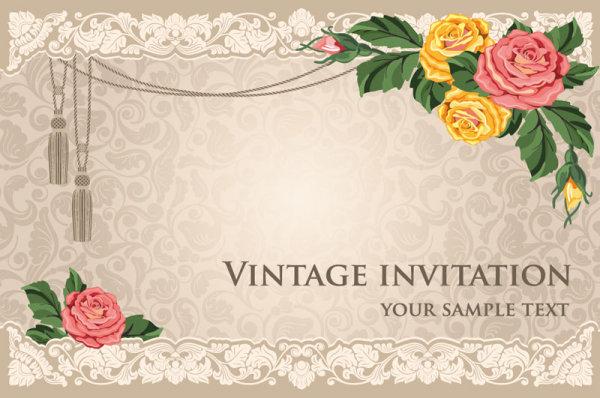Vintage Invitation Cards Card