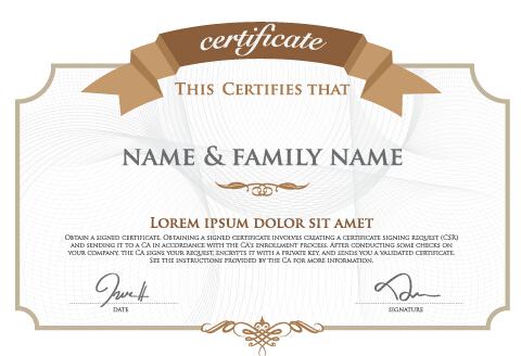 template light color diploma creative certificate