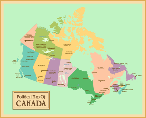 Vintage Style political maps