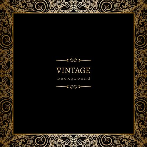 vintage golden black background