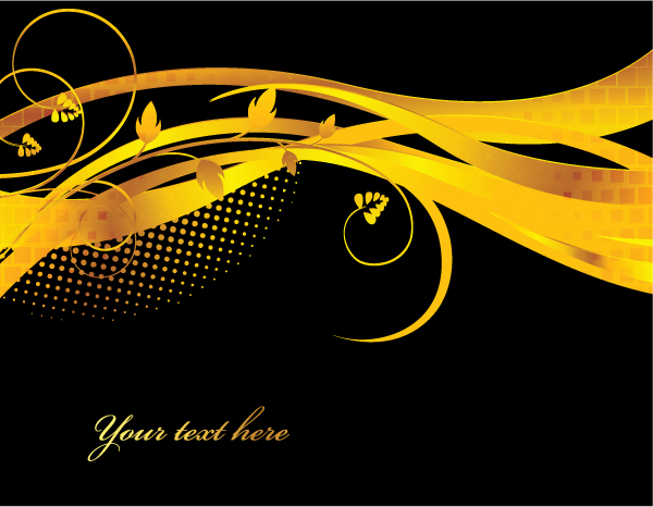 ornaments golden glossy background