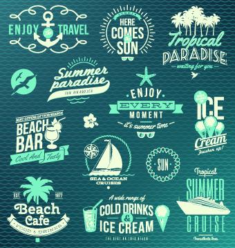 vacation travel summer logos logo