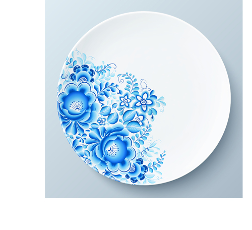 Blue and white porcelain creative design vector 03 for Decorating with blue and white pottery