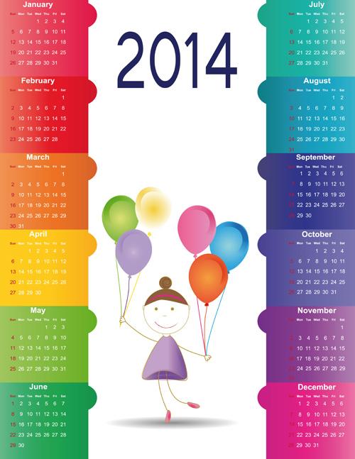 Huge collection calendar 2014