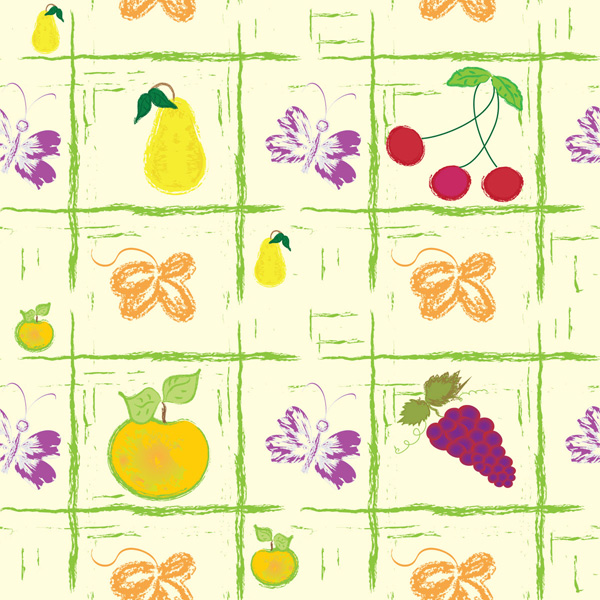 Sydney strawberry lattice hand painted grapes grape fruit cherry background apple