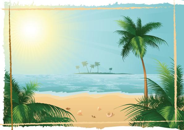 charming sun beach design vector background 02 - welovesolo, Modern powerpoint