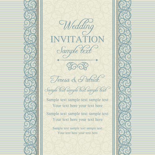 Floral ornate wedding invitation cards vector set 08 welovesolo wedding ornate invitation cards invitation floral cards stopboris Choice Image