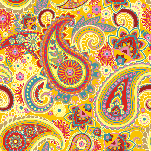 Floral paisley pattern seamless vector 05 - WeLoveSoLo