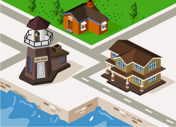 model city building city 3d