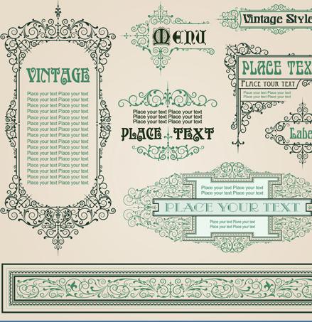 vintage ornament frame vector free download 1 clip art vector