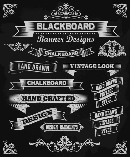 vintage black and white labels with ornaments vector 01 welovesolo