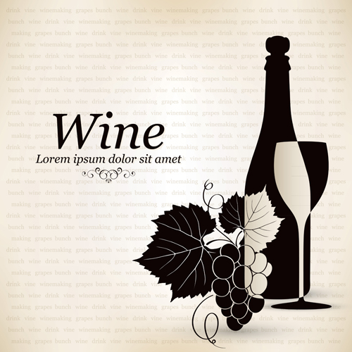 elegant restaurant wine menu vector graphics 03 welovesolo