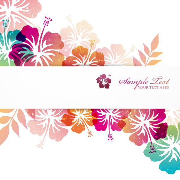flower elements background vector graphics welovesolo