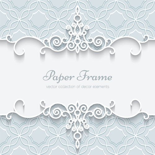 Paper lace frame vector background 03 - WeLoveSoLo