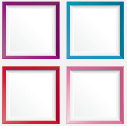 Simple colored photo frame vectors - WeLoveSoLo