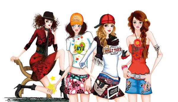 stylish png illustration female