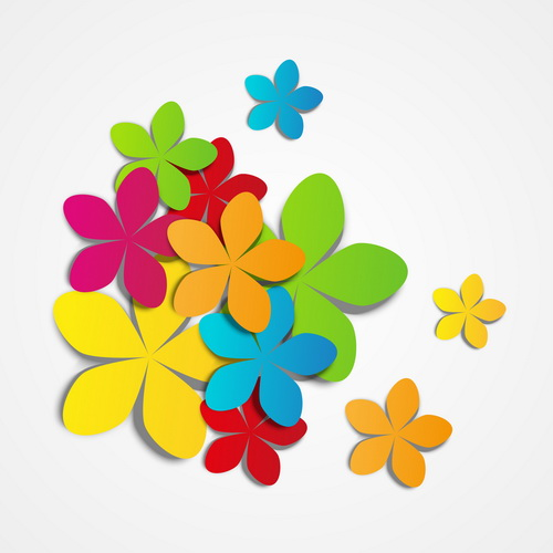 Colored paper flower vector welovesolo paper flowers flower color mightylinksfo