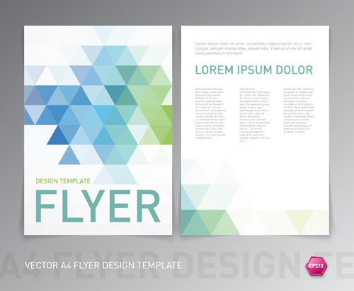 A4 Flyer Design Template Vectors Material 01 Welovesolo
