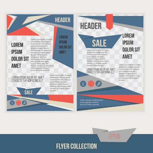 A4 Flyer Design Template Vectors Material 04 Welovesolo
