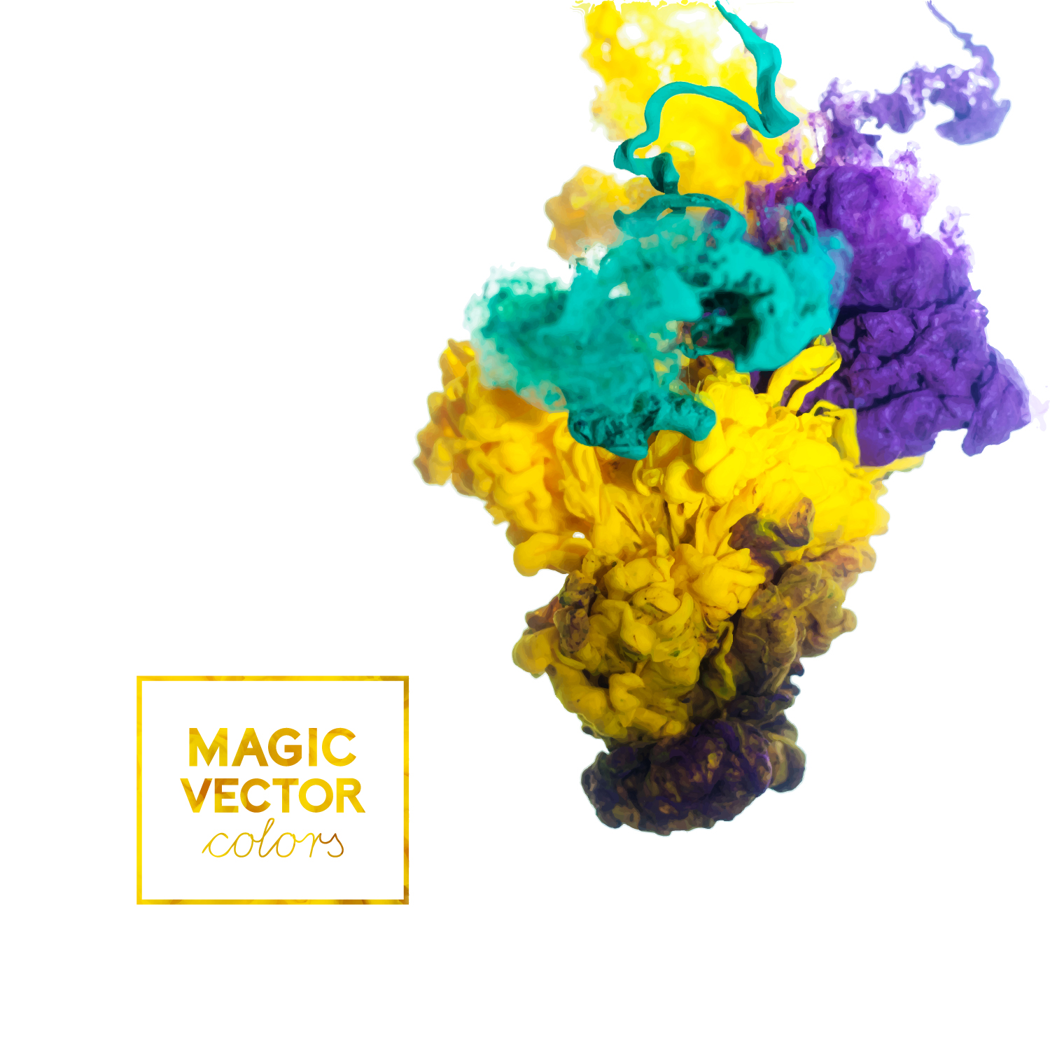 magic ink effect colorful background vector background