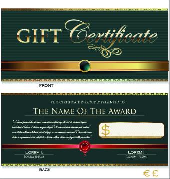 Creative gift certificate template vector 04 welovesolo template vector gift creative certificate template certificate yelopaper Choice Image