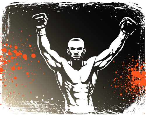 Set Of Boxing Design Elements Vector 01 Welovesolo