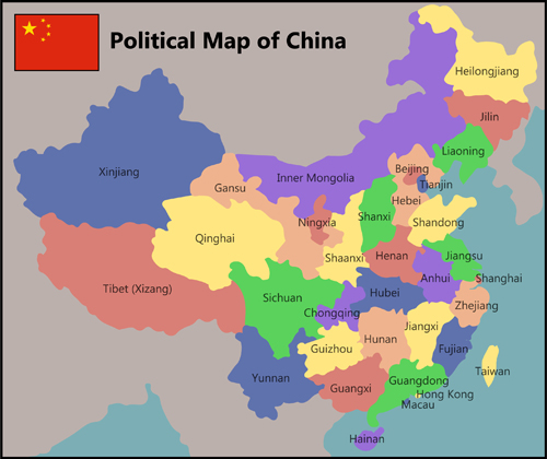 China political map vector material WeLoveSoLo