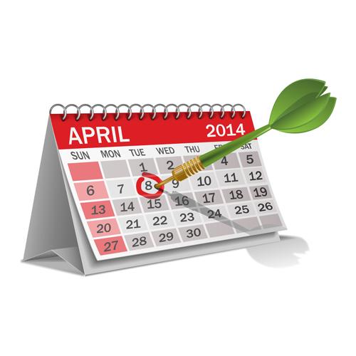 2014 Desk Calendar Design Template Vector 03 Welovesolo