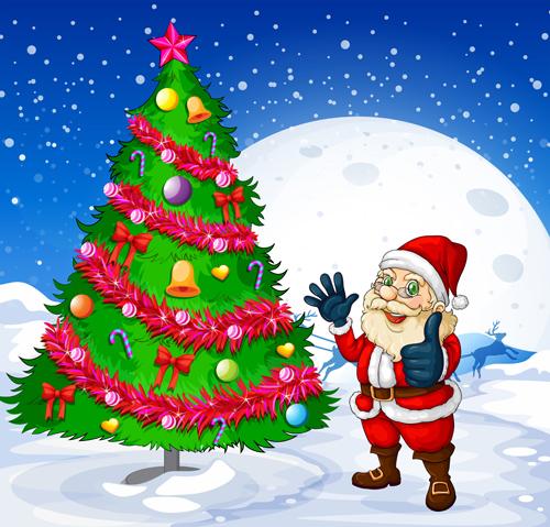tree santa christmas tree christmas