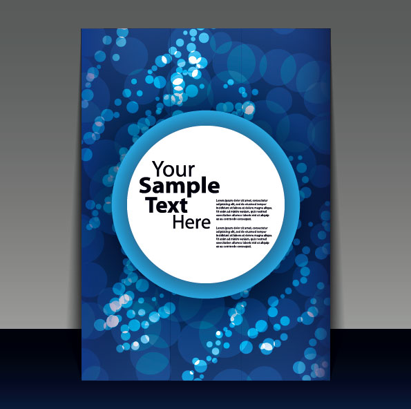brochure cover design elements vector graphic set 10