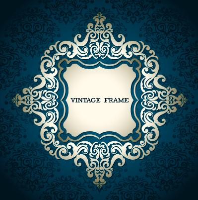 Floral vintage frame vector graphics 01 - WeLoveSoLo