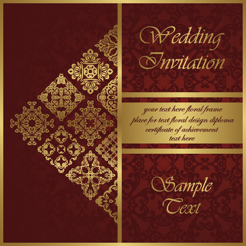 Wedding Invitation Card vintage styles vector 02 WeLoveSoLo