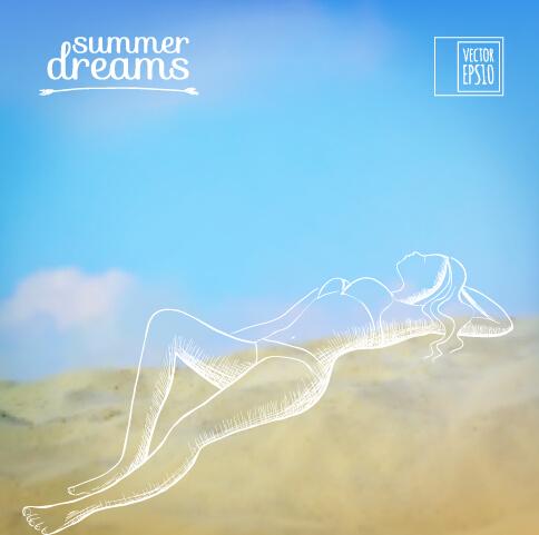 vector background summer elegant dreams dream background