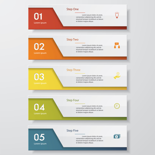Numbered Banners Modern Template Vector 01 Welovesolo