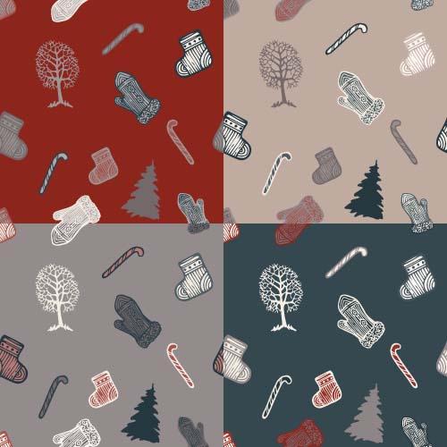 pattern ornaments christmas 2016