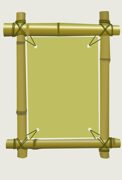 Set of Different of Bamboo Frame design vector 04 - WeLoveSoLo