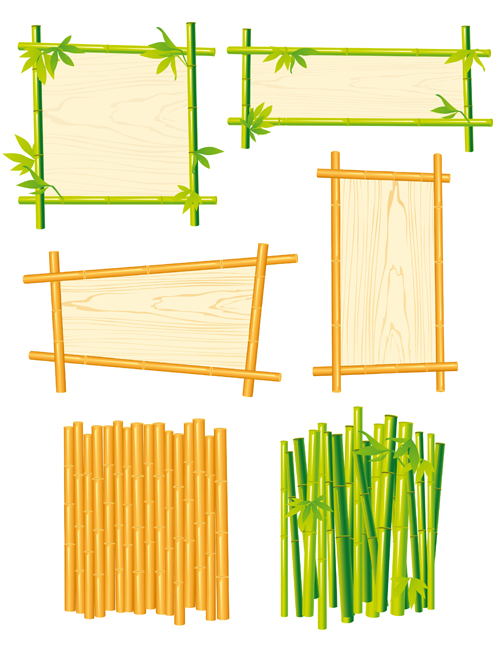 Set of Different of Bamboo Frame design vector 05 - WeLoveSoLo